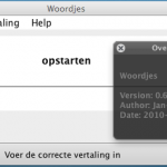 Over Woordjes, use of Macwidgets for layout