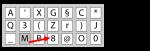 Een on-screen toetsenbord met karakters in random volgorde